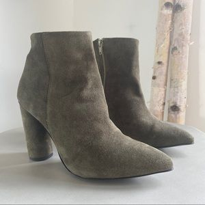 Selected Femme 8.5 grey circle heel bootie point